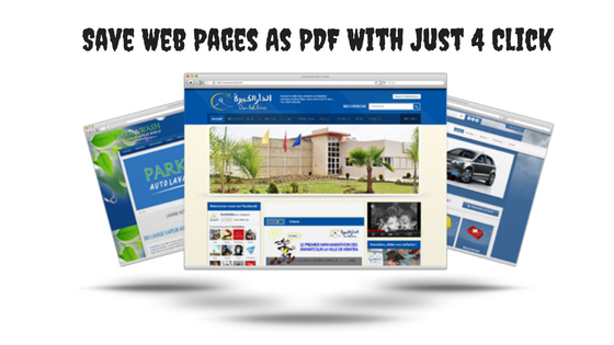 Save Web Pages As PDF With Just 4 Click