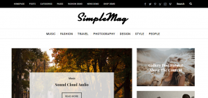 Simple mag WordPress Theme for Creative Magazine Blogs