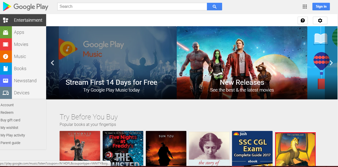 image of google play store