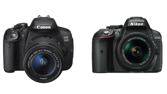 Nikon D5300 VS Canon 700d
