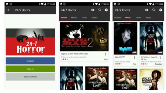 247 horror movies and tv