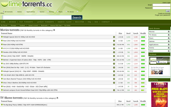 LimeTorrents Proxy Sites List 100% Working {Updated 2019}