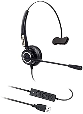Audio Corded Call Center Headset Headphone